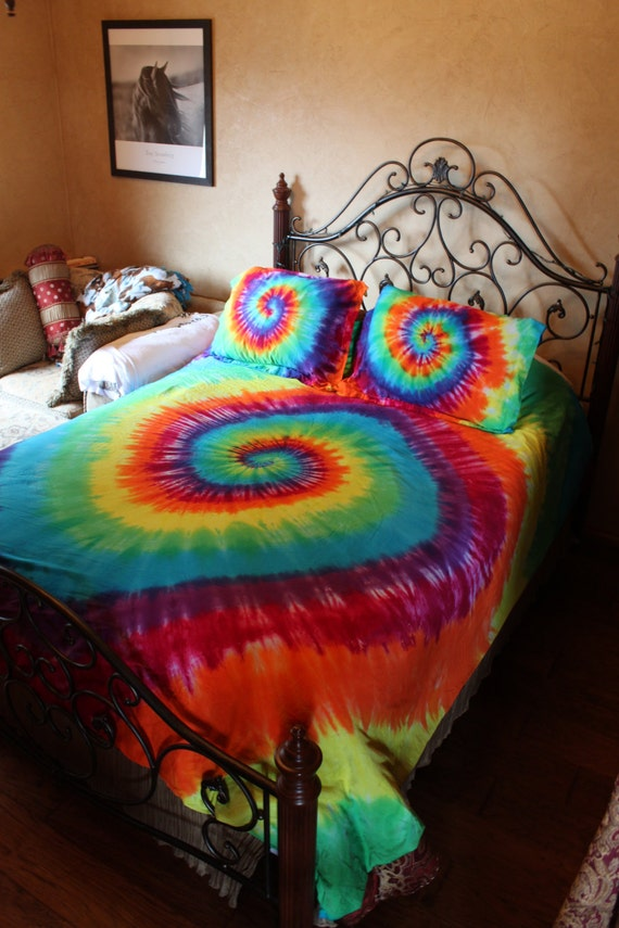 tie dye duvet comforter cover set twin full queen or king california