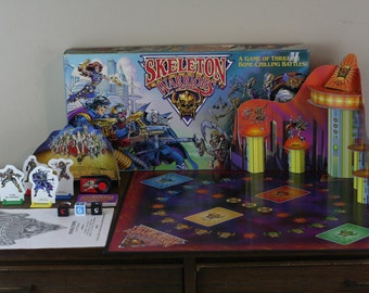 Skeleton Warrior Milton Bradley Board Game Complete Set with Instruction Manual - Rare Vintage Game with 3D Gameboard