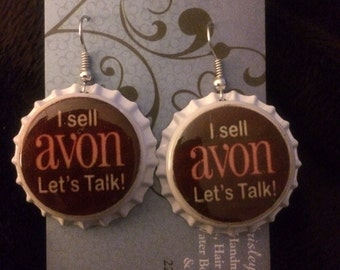 Brown and white avon lets talk