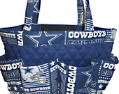 Dallas Cowboys Bingo Bag // Craft Organizer // Makeup Organizer // Caddy // Teacher Tote // Nurse Tote