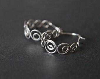 """Sterling silver filigree earrings """" Bubbles 2"""""""