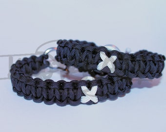 Lung Cancer Emphysema Mesothelioma Multiple Sclerosis Ribbon 550 Paracord Survival Strap Bracelet Anklet w/ Stainless Steel Shackle