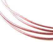 LRD0105060) 1 meter of 0.5mm Mystique Pink Metallic Round Leather Cord
