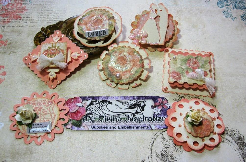 Baby 2 Bride Handmade Scrapbook Embellishments Paper