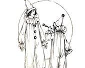 Vintage 1920s Costume Pattern Childrens Clown McCalls 2833 Size 8