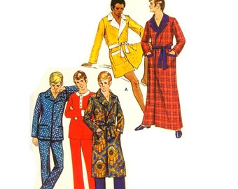 Vintage 1960s Mens Loungewear Pattern Uncut XLarge Chest 46 48 Butterick 5898