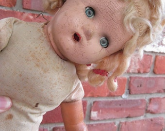 Possessed Patty Haunted Baby Doll 1950s
