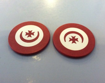 2 Early Red Poker Chips