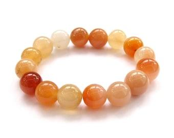 12mm Agate Beads Yoga Meditation Wrist Japa Mala Rosary Bracelet  T3152