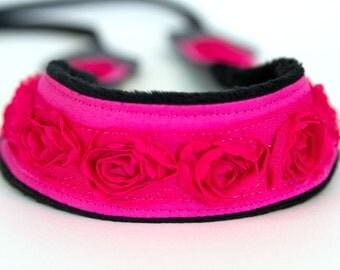 slr Camera Strap- Pink Rosettes
