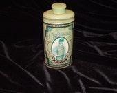 Vintage Avon Tin With Gentlemen's Talc