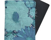 Travel - Passport Cover/Folder/Wallet made from Liberty of London Tana Lawn fabric - ENGLISH FIELD BLUE