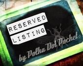 Reserved Listing for Lara