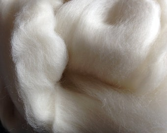 1 oz Merino Wool Spinning Fiber White Felting Fiber