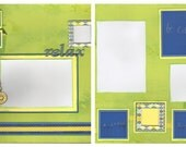 12x12 Scrapbook 2pg. Layout - Relax