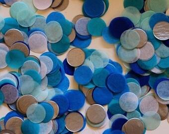 """Tissue Confetti - Blue Confetti - 1"""" Circle Confetti - Paper Confetti - Frozen Confetti"""