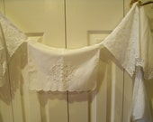 Shabby Chic Vintage Linen Fabric Banner-Bunting-Pennants