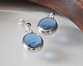 Blue earrings-Glass earri...