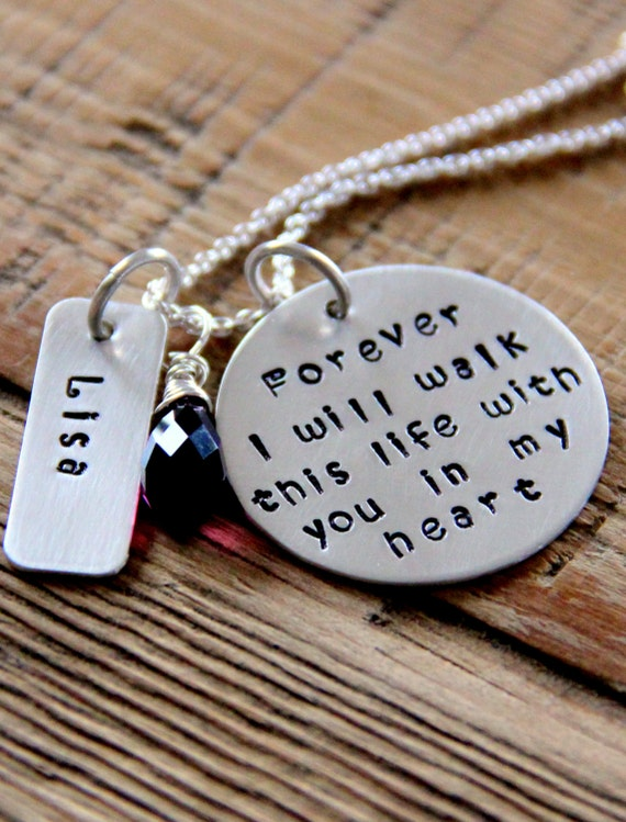 Loss Of Loved One Necklace Sterling Silver Memorial Jewelry