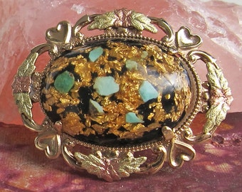 Black Hills Style Gold Filled Pin Brooch