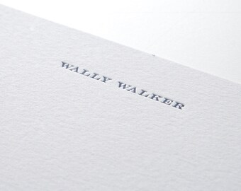 Simple Serif, personalized letterpress stationery, set of 25