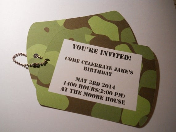 boys birthday party invitations army birthday invitation, Birthday invitations