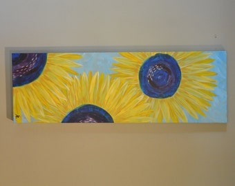 Original Summer Sunflower Painting