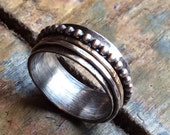 Sterling Silver Spinner, Custom made, Personalized, Birthday, Anniversary, Valentines, Wedding