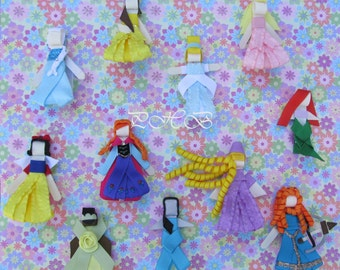 Princess Clips Collection Set of 11 # 2  Inspired by Disney Perfect for Christmas, Birthdays, Baby Showers