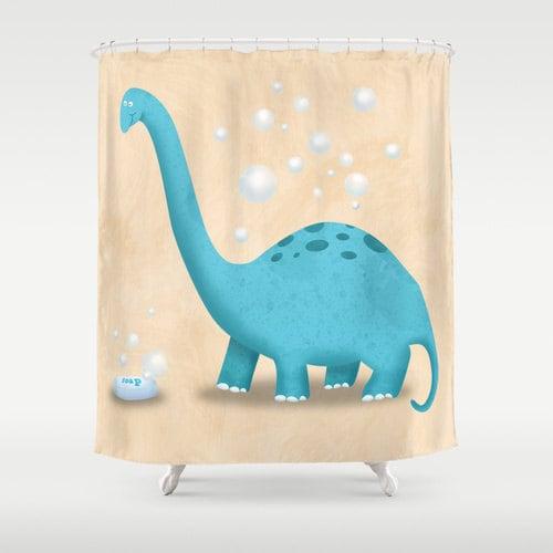 Dinosaur Shower Curtain Little Boy 39 S Bathroom Kids