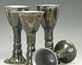 Black and Charcoal Grey Goblets