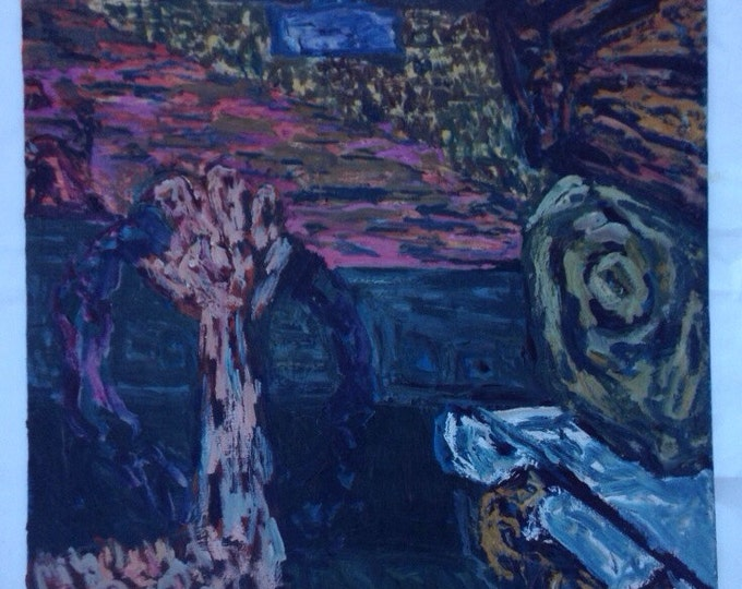 Nowhere bound.   Original oil on canvas by Scott Torkelson