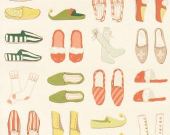 Alexander Henry Fabric-Santa's Slippers Christmas 1 YD