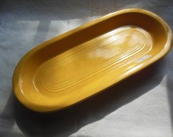 "Old Fiesta Ware Large Utility Tray, 10 3/8"", Yellow, Treasury Item"
