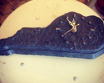 Clock. Kentucky Clock. Vintage Kentucky State Clock Made of Coal
