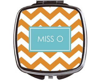Personalized Compact Mirror, Teacher Gift, Monogrammed Compact Mirror, Bridal Party Gifts, Monogrammed Compact Mirror
