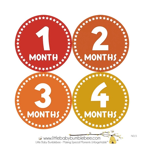 Monthly Stickers, Photo Props, Monthly Baby Stickers, Monthly Baby Photos, Baby Gift, Milestone Stickers, Rainbow (N015)