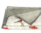 RED BIRDS - Minky Baby blanket - Stroller Blanket- Nursery Blanket- Baby Crib Bedding- Modern Baby Bedding