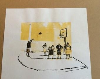 Basketball Screen Print