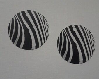 Earring Card Holders Zebra Print Set of 10