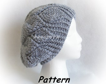 Instant Download to PDF Crochet PATTERN: Slouchy Petal Tam