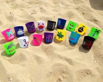 SALE!!! - Personalized Beach Niks - Drink Holder - Monogram Drink Nik