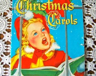 Vintage Christmas Carols Whitman Publishing Co 1952 Silent Night Hark the Herald Angels Sing God Rest Ye Merry Gentlemen Over 15 Carols