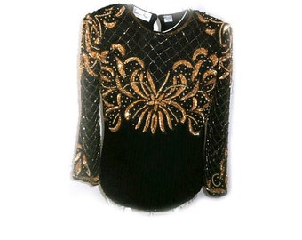 Gorgeous Silk beaded top