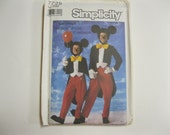 Mickey Mouse Fun Costume Pattern Simplicity 7729 Walt Disney Company Vintage Out of Print Collectible Pattern Size Adult Small