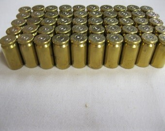 Smith & Wesson Fifty Brass 40 Caliber Pistol Once Fired Federal Brand Ammo Casings Polished and Ready for Crafts, Jewelry or Reloading