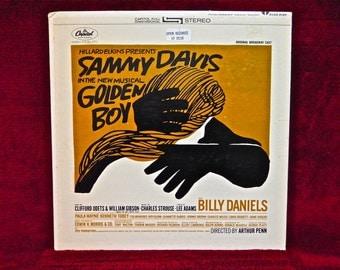 SAMMY DAVIS - In New Musical Golden Boy...Original Broadway Cast - 1955 Vintage Vinyl Gatefold Record Album...includes Insert Booklet