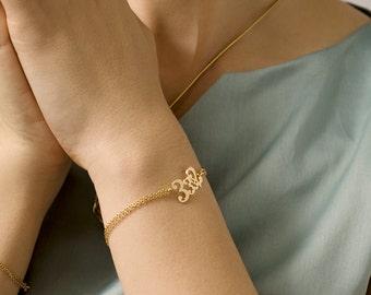 Good Luck Bracelet - Lucky Charm - Delicate Gold Bracelet - Meaningful Numbers Bracelet - Spiritual Jewelry