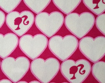 1M Birbie fabric white and pink  color