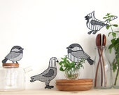 four birds - wall decals